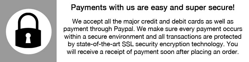 Our payment systems are super secure