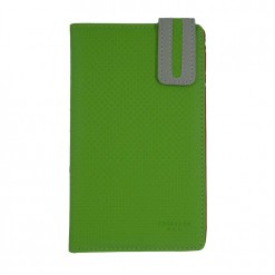 Front side of green flutter passport cover with grey clasp