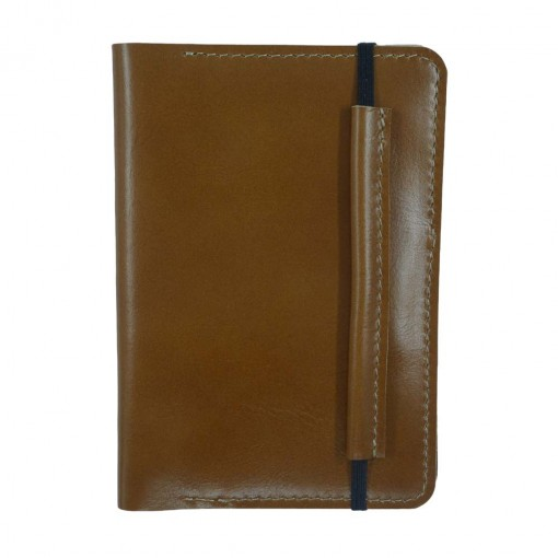 Mosey Beige Leather Travel Wallet Front