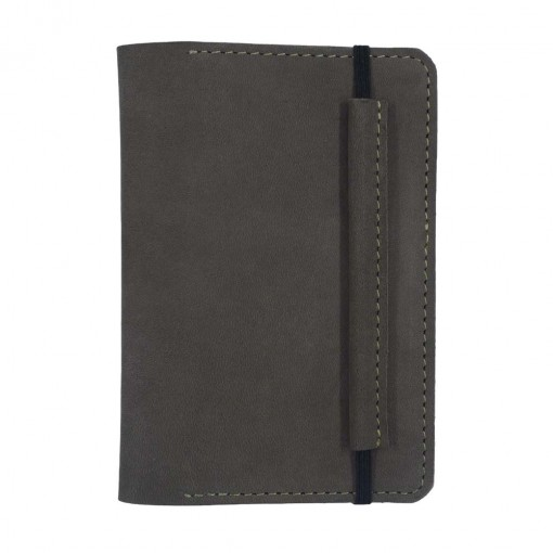 Mosey Dark Brown Leather Travel Wallet Front