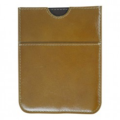 Light brown leather travel wallet hand stitched