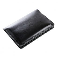 Closed front view of traverse travel wallet shown on an angle