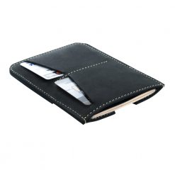 Soft matt black finish on wanderer passport holder