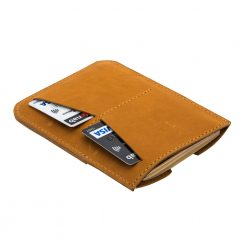 Rear view of nubuck leather Wanderer travel wallet
